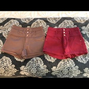 2 pair refuge high waist top shorts